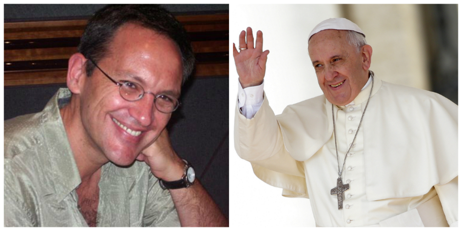 Hi Pope Francis. Meet Mr. Golijov.